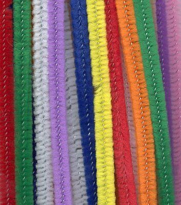 Craft Stem Chenille Pipe Cleaners Pack of 100 Multi Coloured  300mm x 6mm APPROX