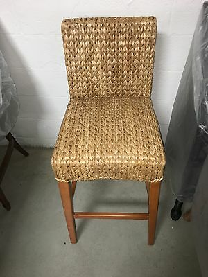 Pottery Barn woven Seagrass Barstool brown Honey Chair MEDIUM counter
