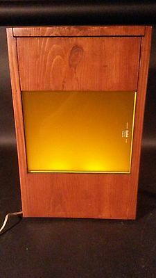 Vintage Kodak Darkroom Safelight Filter Custom Wood Box