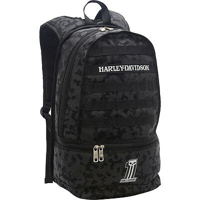 Harley Davidson by Athalon Night Ops Backpack - Black Everyday Backpack NEW