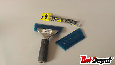 Blue Max Squeegee Kit 3 Pcs for Tinting Installation of Window Film: Knife Handl