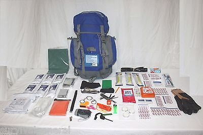 72 Hour Survival Kit Water Food Backpack Gear Bug Out Bag Preparedness 3 Day