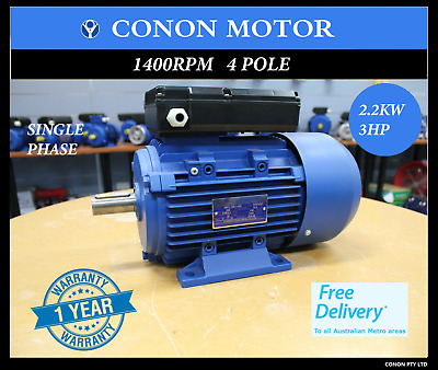 2.2kw 3HP 1400rpm shaft 28mm Electric motor single phase 240v car hoists cement