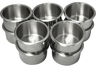 10Pcs Stainless Steel Poker Table Cup Holder Jumbo Size