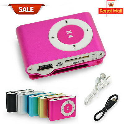 New Practical USB Clip MP3 Player 16GB Micro SD Card  Radio Music Media UK