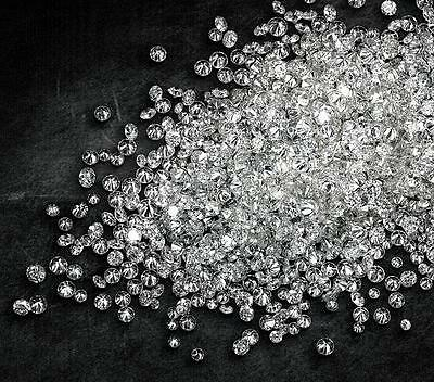 REAL 100% NATURAL Loose 100 Round Diamonds Clarity-SI1-I2 Clr-D-H(White) £25.99