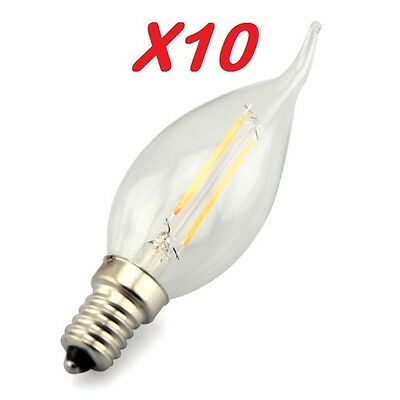 Pack De 10 Ampoule Led Filament E14 2.0 Watt (eq. 20 Watt) Compatible