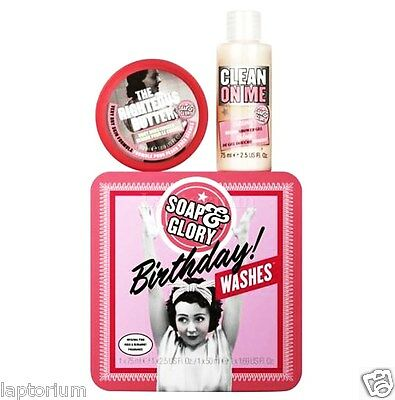 Soap & Glory Birthday Washes Pink Rose & Bergamot Special Christmas Gift Set