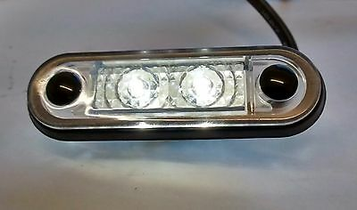 MURE HELLA TYPE LED FLUSH FIT KELSA LIGHT BAR MARKER LIGHT 12v 24v WHITE LAML003