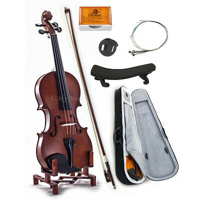 New WOODEN Student Violin VN101 1/4 Size w Case Bow Rosin String *GREAT GIFT*