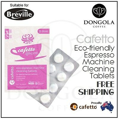 BREVILLE Espresso Coffee Machine Cleaning Tablets Eco Organic Cleaner by Cafetto