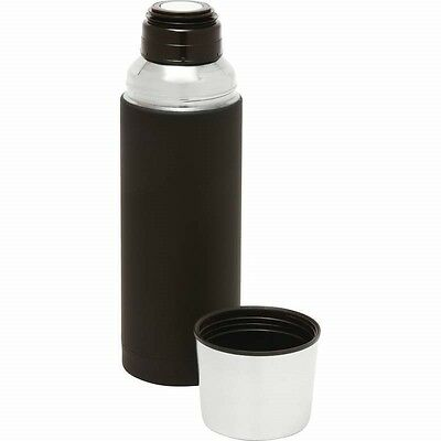 32oz Black Rubber SS Vacuum Insulated BOTTLE Coffee Container Thermos Beverage