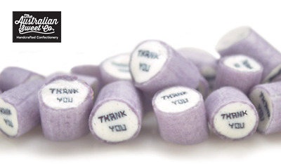 Gourmet Thank You Rock Candy Boiled Bulk Lollies Wedding Favours Party Valentine