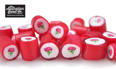 Gourmet Rose Rock Candy Boiled Bulk Lollies Wedding Favours Valentine Party