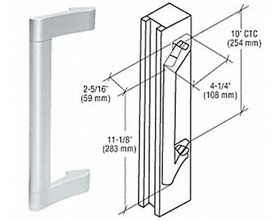 Satin Anodized Extruded Aluminum Pull Handle