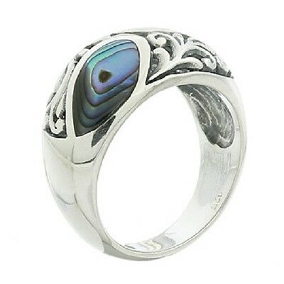 Silver ring 925 sterling Paua Shell handmade ring 6us 7us 8us  9us Vintage new