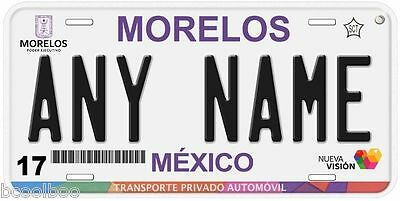 Morelos Mexico Any Name Number Novelty Auto Car License Plate C03