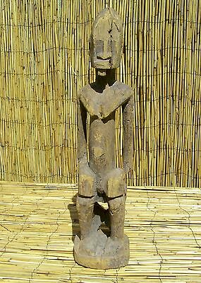"""African Dogon Male Seated Figure From Mali 21 1/2"""" Tall"""