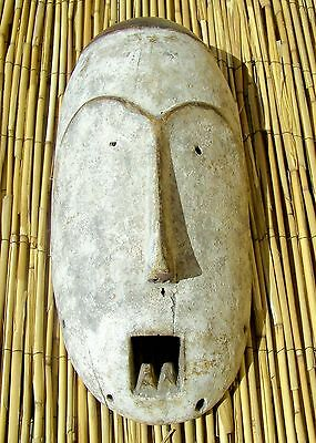 "African Songola Mask From The DRC Congo 15 1/4 "" Tall"