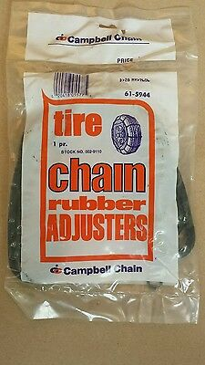 2 NEW snow tire passenger rubber chain adjusters tighteners bungees