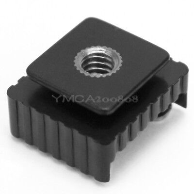 Metal Hot Shoe Mount Adapter To 1/4 Inch Screw Head Hole For Canon Flash Bracket