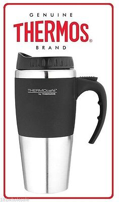 ❤ Thermos 450ml Stainless Steel Insulated Coffee Travel Mug Splash Proof 0.45L ❤
