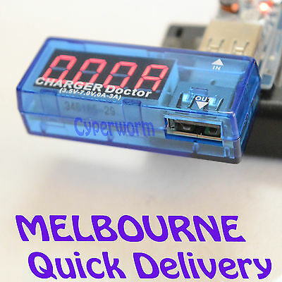 USB Voltage Current Amp Meter Tester Mobile Charging Voltmeter Ammeter