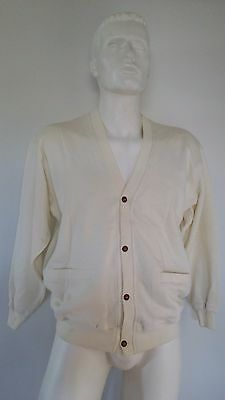 RETRO Sportswear Mens Retro Button up Jumper Cream Size M New with tags Vintage