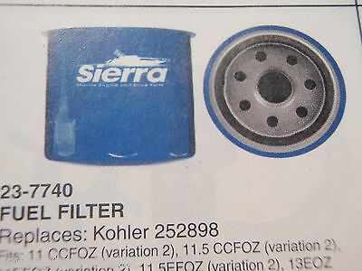 Kohler Generator Sierra 23-7740 Fuel Filter 252898 Boatingmall Ebay Boat Parts