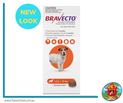 Bravecto for Small Dogs 4.5-10 Single kg Chew