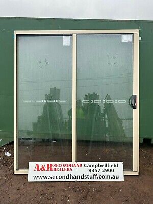 NEW Aluminium SLIDING DOOR 2100h x 1800w (approx size) 5 COLOURS