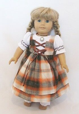 """Doll Clothes 18"""" Dress Kirstens School Pioneer Fits American Girl Dolls"""