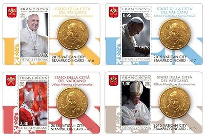 Stamp & Coin Card  Vaticano 2015