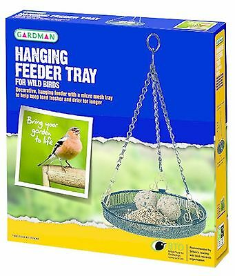 HANGING FEEDER TRAY Gardman Hanging Bird Table Suet Seed | FREE Fast Delivery!