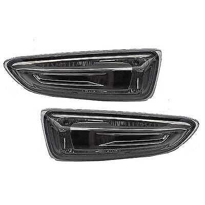 Vauxhall Astra J Mk6 2010  5 Door Smoked Side Repeater Indicator Lens Pair New