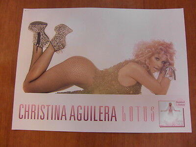 CHRISTINA AGUILERA - Lotus [OFFICIAL] POSTER *NEW*