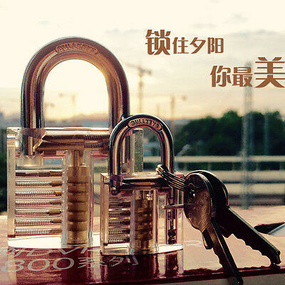Transparent Visible Cutaway Practice Padlock Lock Training Skill For Locksmith