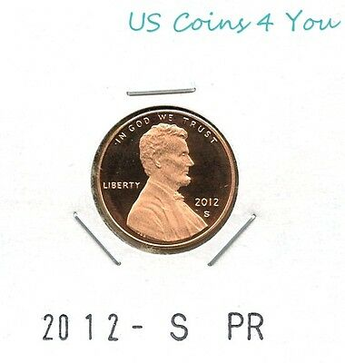 **bu** 2012-S Proof Lincoln Shield Cent Penny