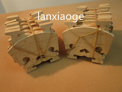 60pcs BAROQUE violin bridges fine maple laser precise 4/4 #6547