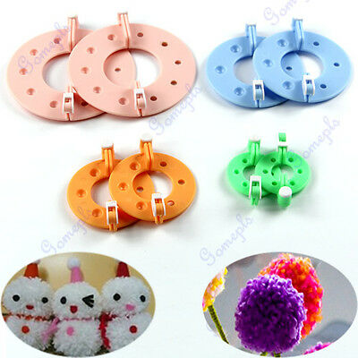 8pcs 4 Sizes Essential Pompom Maker Weaver Needle Fluff Ball Craft DIY Tool Kit