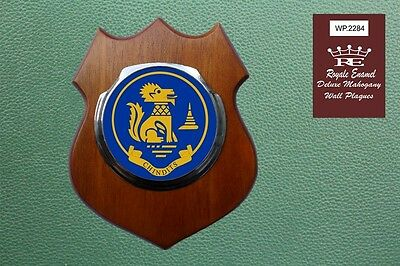 Royale Stainless Deluxe Mahogany Plaque CHINDITS SPECIAL FORCES BURMA WP.2284