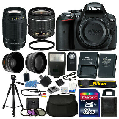 Nikon D5300 Digital SLR Camera 32GB 4 Lens Kit: 18-55mm VR + 70-300mm Best Value