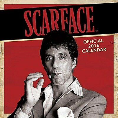 Scarface Official Wall Calendar 2016 Square New & Sealed (Al Pacino)