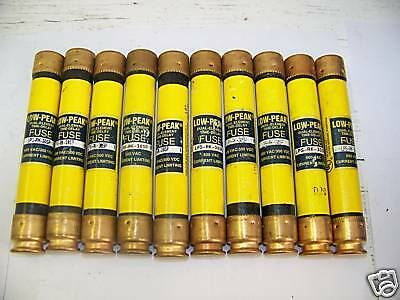 Nice Lot Bussmann LPS-RK-30SP 30 Amp Fuses Low-Peak 600 Volts