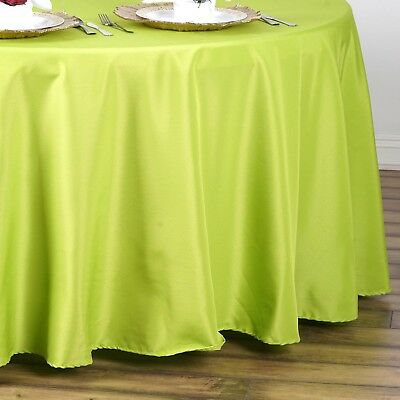 "6 pcs SAGE GREEN 90"" ROUND POLYESTER TABLECLOTHS Trade Show Booth Decorations"