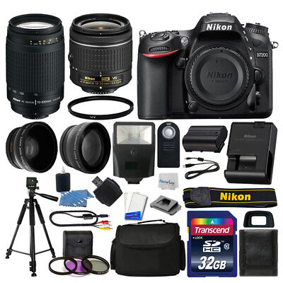 Nikon D7200 Digital SLR Camera 32GB 4 Lens Kit: 18-55mm VR + 70-300mm Best Value