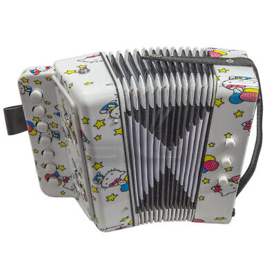 *GREAT GIFT* Top Quality ButterflyPattern Accordion Musical Toy 7 Buttons 2 Bass