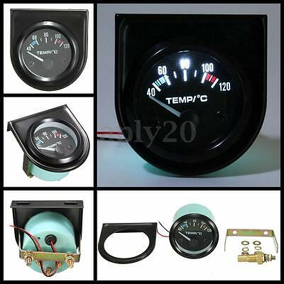 2'' 52mm Universal Car Electric LED Water Temperature Temp Gauge 40-120℃ 12V