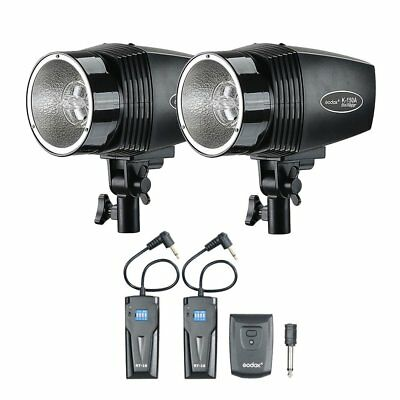 2x Godox K-150A 150W Studio Strobe Flash Light  Head + RT-16 Flash Trigger