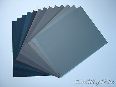 """Sandpaper Wet/Dry Silicon Carbide 24 - 3"""" X 5 1/2"""" Sheets - Grits 280 Thru 3000"""
